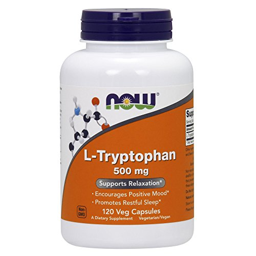 L Triptofano Tryptophan 500mg (120 VCaps) Now Foods
