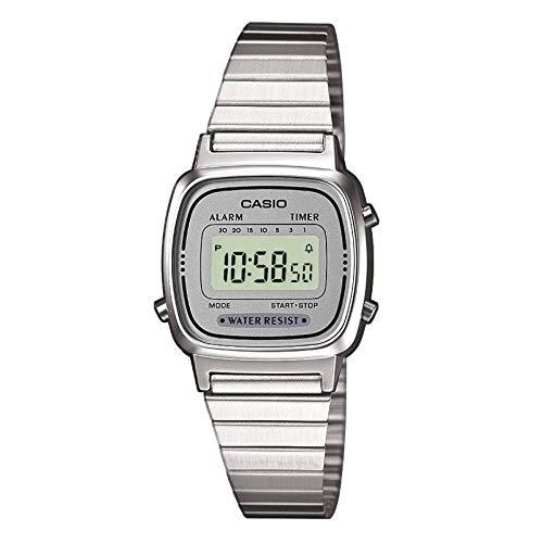 Relógio Feminino Digital Casio Vintage La670Wa-7Df - Prata