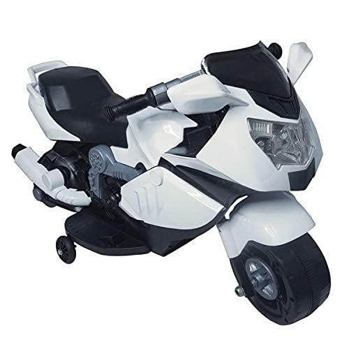Mini Moto Elétrica Infantil Importway BW044 com Luzes e Som Branca