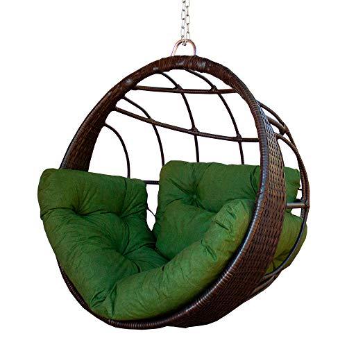 Cadeira Balanço Ninho Suspenso Confort em Alumínio com Fibra Sintética cor Pedra Ferro