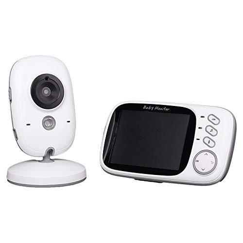 Babá Eletronica Câmera Sem Fio Visão Noturna Lcd Digital,Branco