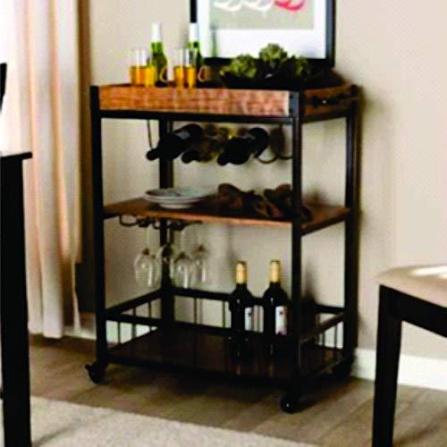 Porta vinho e carrinho de bar