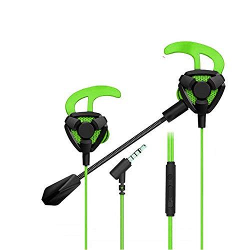 Fones de ouvido intra-auriculares com microfone, fones de ouvido para jogos de 3,5 mm, fones de ouvido com fio com ruído lsolante estéreo Bass Surround Soun com controle de volume para PS4, Xbox One, laptop, celular PC