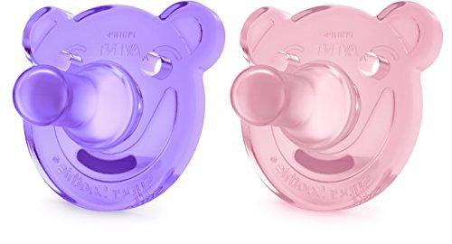 Kit 2   Super Soothie   Chupetas   Philips Avent   3+ Meses   Ursinho   rosa e violeta