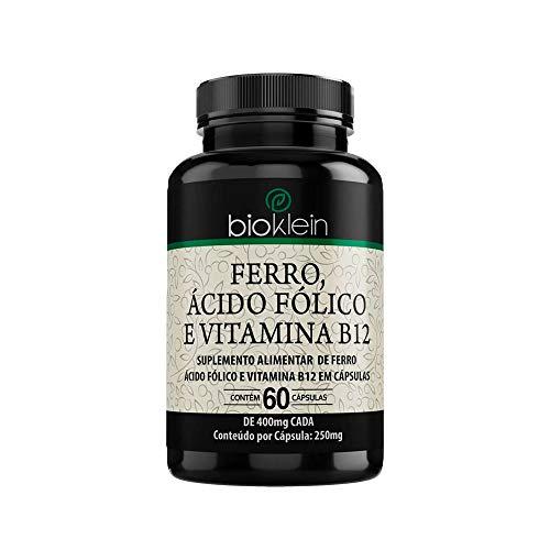 Ferro, Ácido Fólico e Vitamina B12-60 Cápsulas - Bioklein
