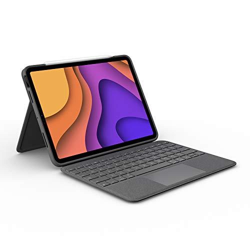 Logitech Capa com teclado Folio Touch iPad com trackpad e conector inteligente para iPad Air (4ª geração) – Grafite