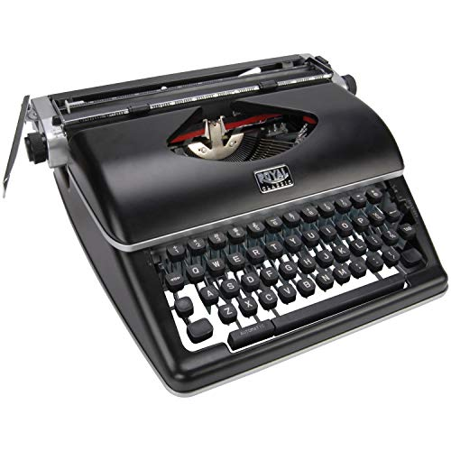 Máquina de escrever manual clássica preta