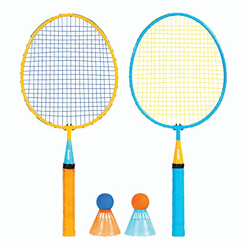 Franklin Sports Conjunto de badminton infantil – Conjunto Smashminton – Conjunto de 2 jogadores juvenil com pássaros