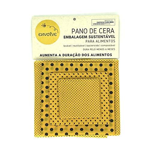 Kit 4 panos de Cera de Abelha Envolve tamanhos P (18x20cm), M (25x28cm), G (35x38cm) e GG (38x47cm), para Substituir o Filme Plástico no Armazenamento de Alimentos. Diversas Estampas a Sua Escolha