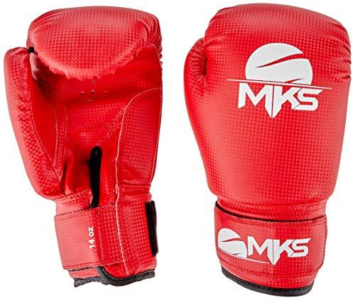 MKS, Luva boxe prospect, vermelha, tam 14oz