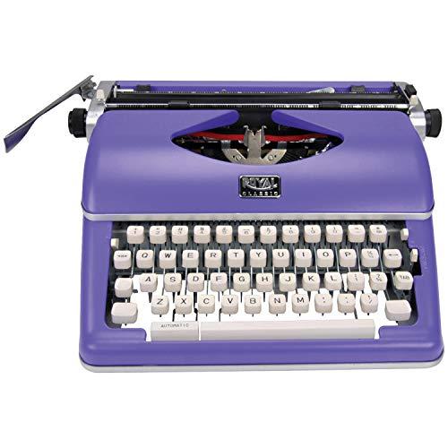 Máquina de escrever manual clássica, Roxa