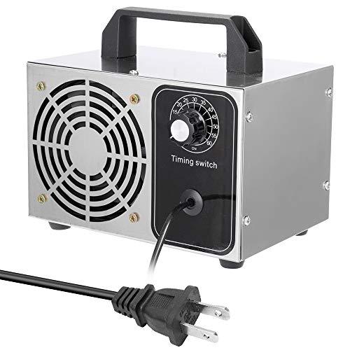 Romacci 110V ozônio portátil 28g / h gerador filtro de ar purificador ventilador para carro doméstico formaldeído