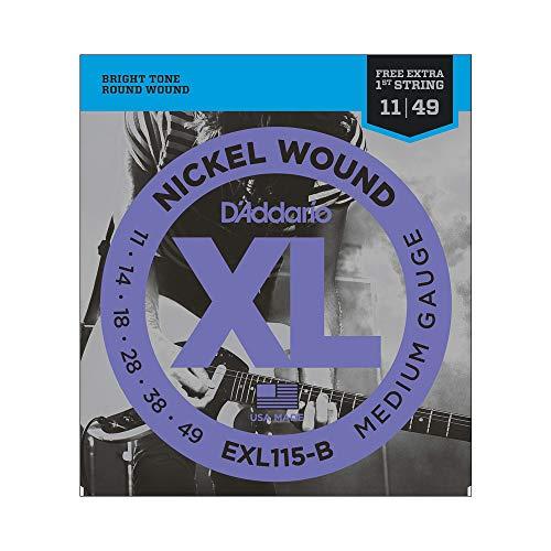 Encordoamento Para Guitarra .011-.049 Com Corda Extra PL011 D'Addario XL Nickel Wound EXL115-B