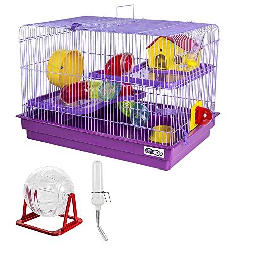 Gaiola para Hamster Big Space Completa Jel Plast Lilás