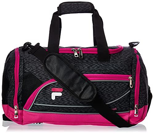 Fila Bolsa esportiva esportiva Sprinter de 48 cm, Bolsa esportiva pequena Sprinter para academia, Rosa estático, One Size