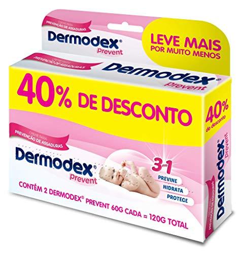 Kit Pomada para Prevenção de Assaduras Dermodex Prevent - 120g (2x60g), Dermodex, 2 X 60 Gr, pacote de 2