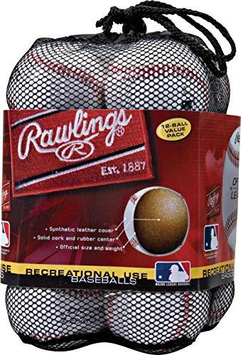 Rawlings OLB3BAG12 Bola de beisebol de uso recreativo da Liga Oficial