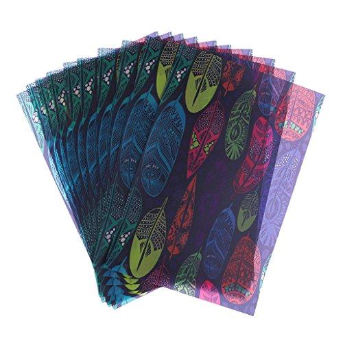 Bonarty 10 peças de folhas de papel encerado para sabonete/tamanho: 21 x 14 cm (8,26 x 5,51 polegadas)