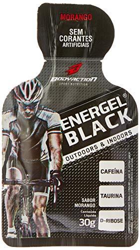 Body Action Energel Black com Sabor Morango - 30 g