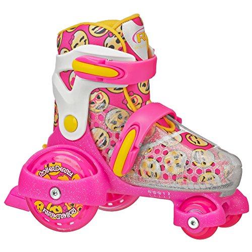 Roller Derby Patins ajustáveis para meninas, rosa, médio (11-2)