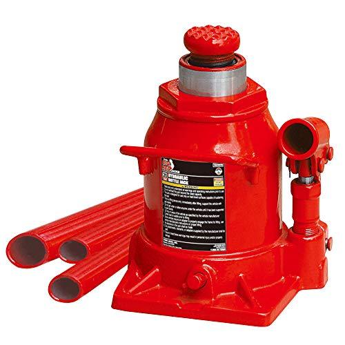 BIG RED T92007A Torin conector hidráulico de perfil baixo soldado para garrafa, capacidade de 20 toneladas (18 kg), vermelho