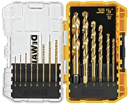 DEWALT DW1341 Conjunto de brocas de ponta de titânio com 14 peças