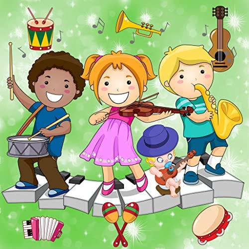 Jogos de música para bebés e crianças : descubra os instrumentos musicais e seus sons !